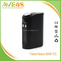 small size and amazing design 60W TC e-cigarette box mod Tesla Nano 60W TC box mod