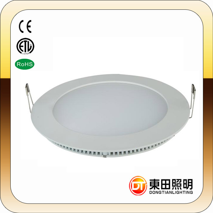 ultra-thin led recessed led lighting Round super thin China supplier flat led ceiling panel light