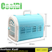 Ventilating detachable partition handled pet cage dog carrier