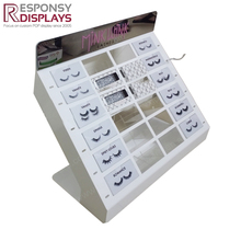 Popular stand cosmetic beauty false eyelashes cases mirror display racks