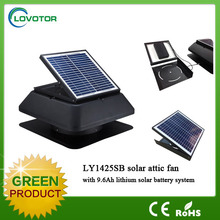 15W solar power fan ventilation Auto air cooling roof fan DC solar battery system exhaust fan