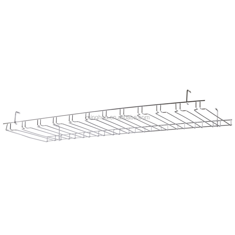 11 slot chrome wire bar glass rack