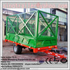 Farm tractor trailer, high hurdle trailer with 4 wheels