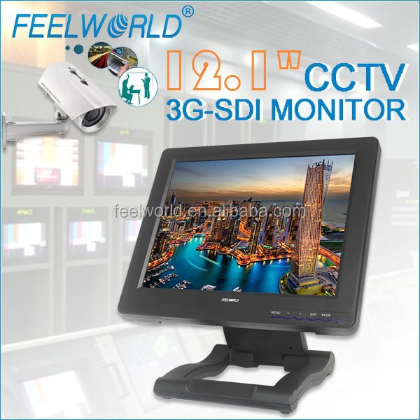 "12.1"" wireless camera monitor to military surveillance equipment with 3G-SDI HDMI YPbPr Audio,Video"