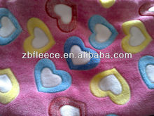100% polyester antipilling/not antipilling heart polar fleece fabric
