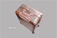 carry on luggage type travel bag flight boarding luggage trolley case on wheels with aluminum trolley system