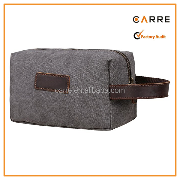 Canvas Travel Toiletry Organizer Canvas Toilet Bag for Men