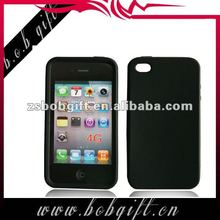 Black colour silicone mobile case for iphone 4/4s