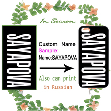 Custom DIY Name Personalize Case for iPhone 4 4S 5 5S 5C SE 6 6S 7 Plus Samsung Galaxy S3 S4 S5 Mini S6 S7 S8 Edge Plus A3 A5 A7