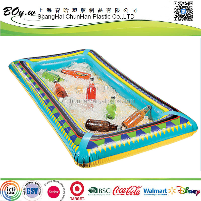Factory new design testing celebration promotional gifts bar colorful beer ice cooler inflatable salad bar