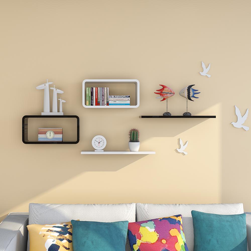2016 New Design Mdf Wood Wall Shelf Lovely Diy Home