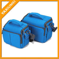 stylish young girl dslr blue camera bags