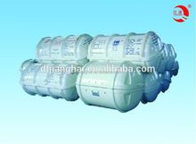 Throw-over GFRP life raft container, glass fiber life raft container