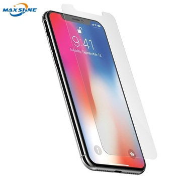 Cell Phone Clear Tempered Glass For iPhone x Screen Protector Case Friendly 9H glass screen protector for iphone 8 plus