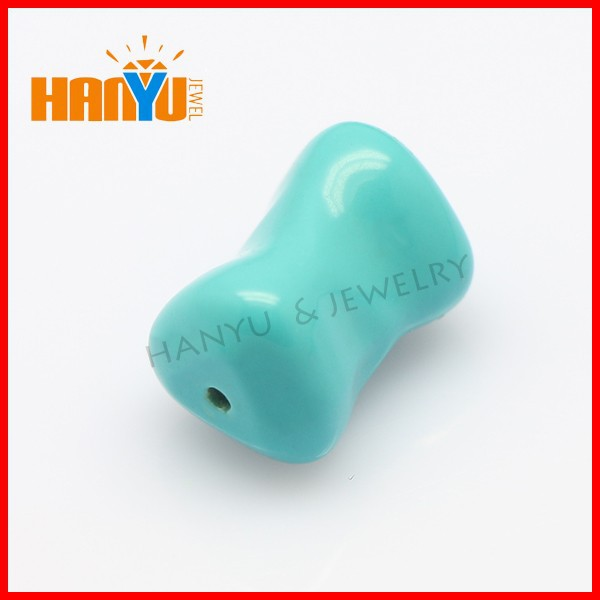 Bone shape 9*15mm blue and green turquoise stone jewelry