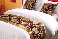 elegant 100% polyester jacquard hotel bed runner /cushions cover and bed runners