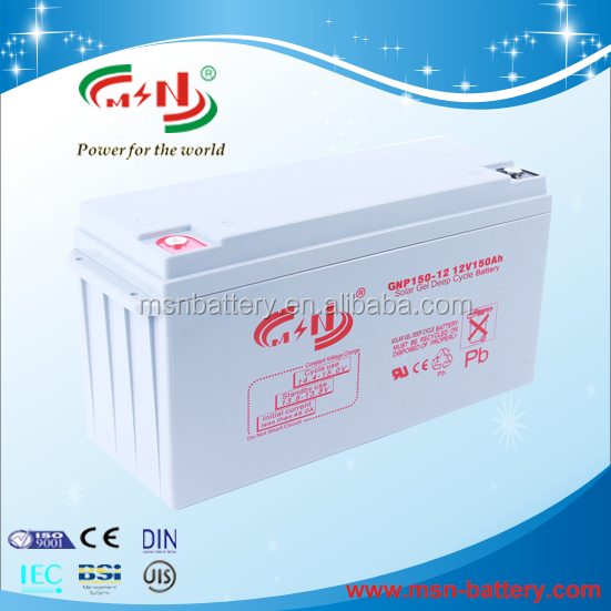 2016 advanced Technology factory directly sale solar gel deep cycle 12v 150ah battery