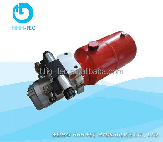 Double Action hydraulic Power supply Unit for garden machinery and logistics equipments
