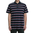 High quality mens stripe polo stand collar t shirt knit fabric cotton t shirt pique cotton t polo shirt