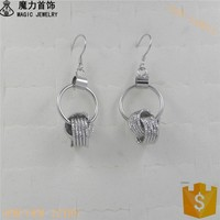 Fashion Costume Jewelry China Silver Plated Earrings