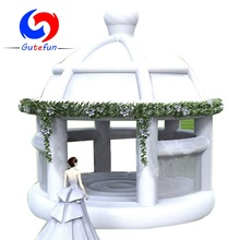 TOP sale happy bouncy white inflatable wedding bouncer castle for wedding