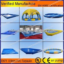 Best quality customized size 0.9mm pvc inflatable 2 ring pool