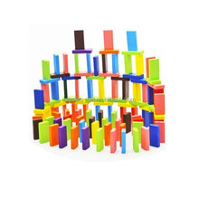 Educational Wooden Dominoes Building Block Toy