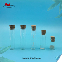 Different sizes of wholesale round cork tube-type borosilicate glass bottle ,mini drifting bottle