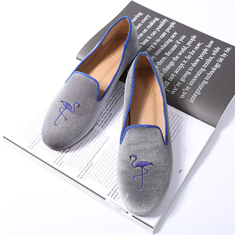 flock TPR bottom sheep leather lining new style flat girls shoes
