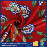 Women Dress Fabric Digital Printing Satin Fabric 100% Polyester Fabric