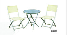 3PCS ALUM.TABLE SET folding bistro table chair set outdoor furniture folding bistro setoutdoor metal spring chair furniture