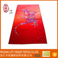 any size oem red printed microfiber beach towel
