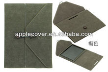 Envelope PU leather case for iPad for apple iPad cover