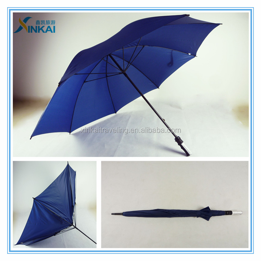 Signature of plastic handle straight rain umbrella