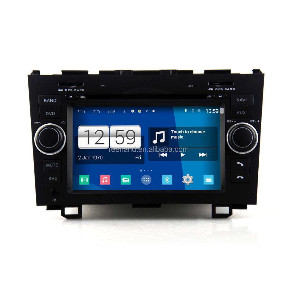 "7"" Car Stereo player Pure Android 4.4.4 for HONDA CRV with WIFI GPS navigation BT/FM/AM/SD/USB Capacitive screen car DVD"