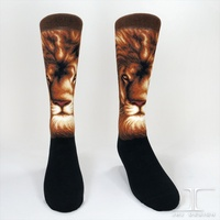 3D Fashion Design animal King Lion Mid Socks