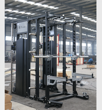 EM1057 Multi Gym Equipment cable crossover and squat rack