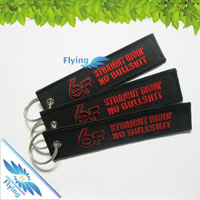 airline keychain, remove before flight embroidery keychain