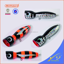 WDL042 lures for fishing popper wooden decorative fishing lure fishing wooden lure