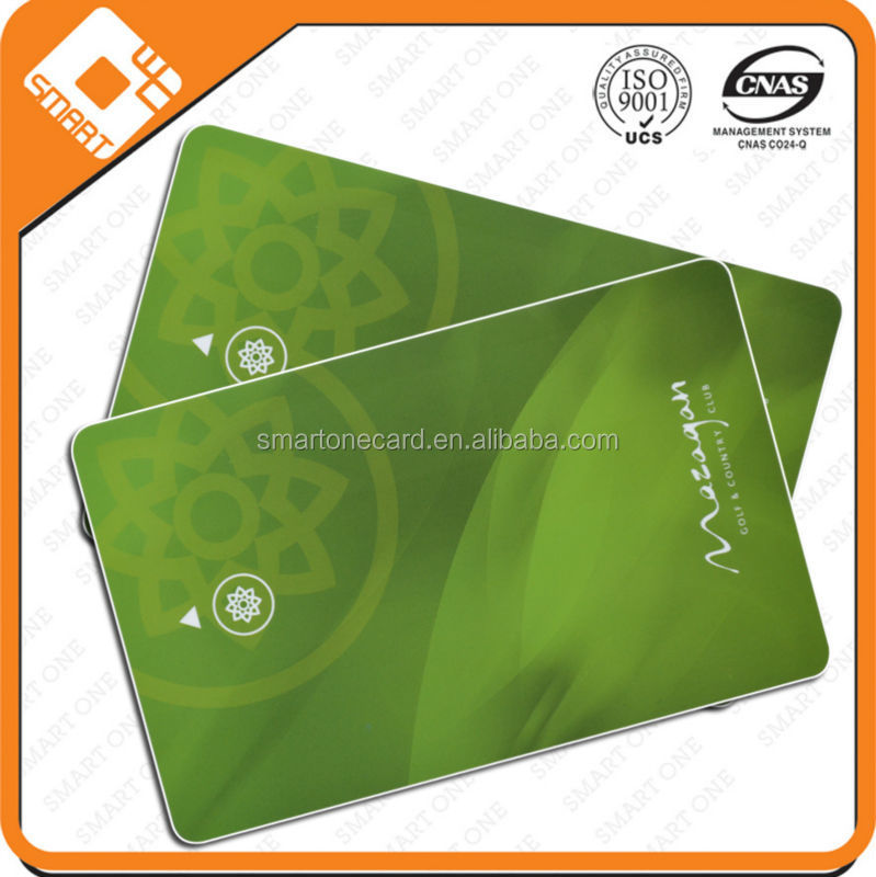 100% satisfied guaranteed machine printed pvc Business gift card