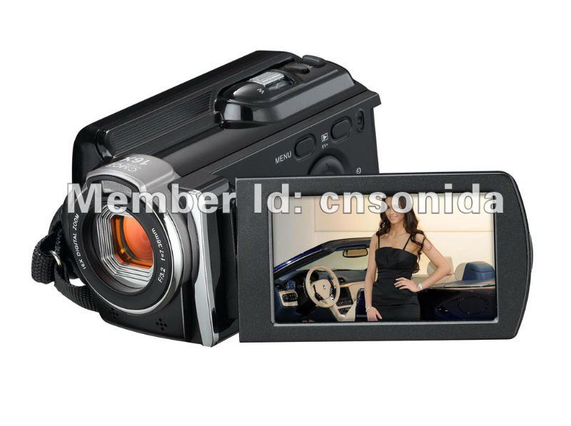 tv out web use digital video camera camcorder 16 digital zoom up to 16.0MP 2.7-inch rotation screen 1080P full
