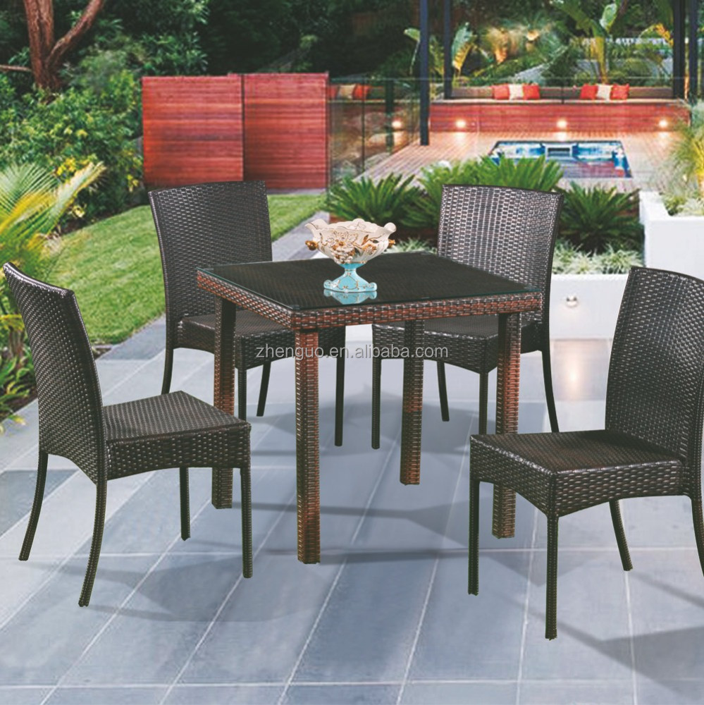 2016 wholesale new PE rattan garden outdoor wicker dining sets