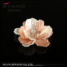 New Arrival special design stylish fabric flower with pearl corsage manufacturer sale