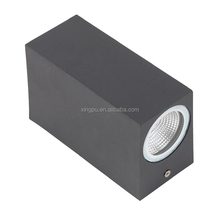 Hot selling 2x3W Square led light wall, outdoor led wall light, Up or down wall light