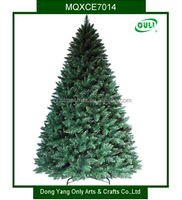 Green PVC Artificial Christmas Tree with Metal Stand