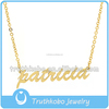 Personalized name necklace name plate necklaces gold necklace name