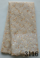 beige hot selling indian french stones lace fabric african newest popular net french lace