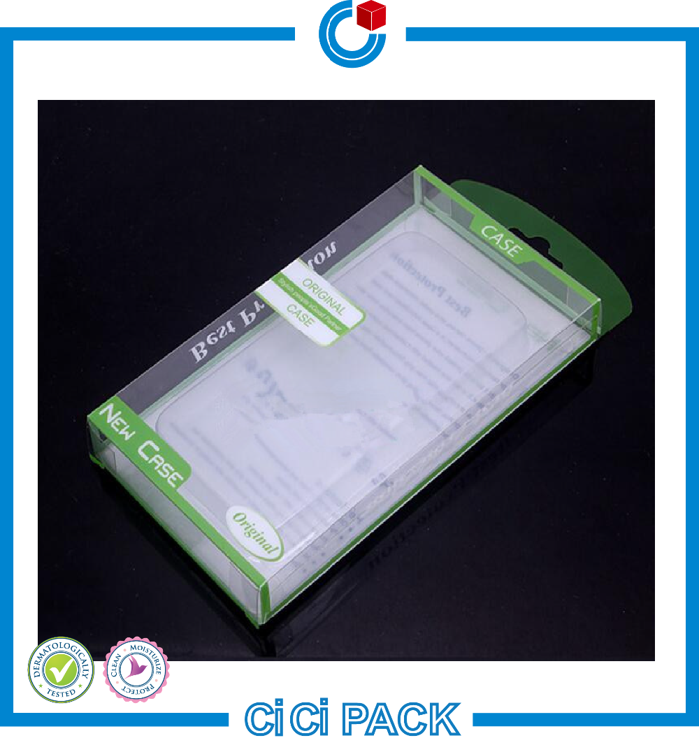 Green Color Custom Hard Plastic Packaging Box Wholesale For iphone Case
