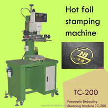 Long life performance hot foil stamping machine TC-200 for bowl business card,eye pen, eye brow,bottle,cup,case