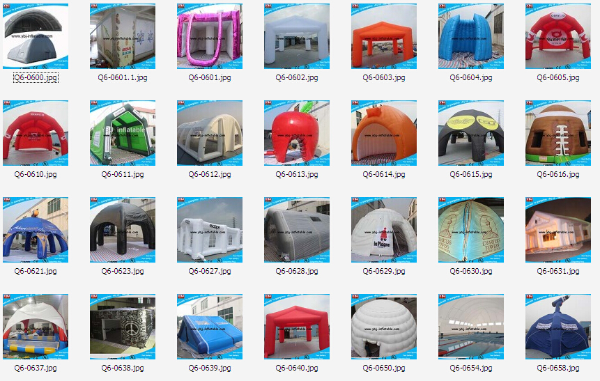 Hot sale blue inflatable hexagonal tent for advertising